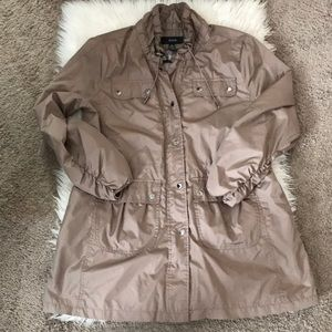 Alfani Size Large beige dressy cargo coat